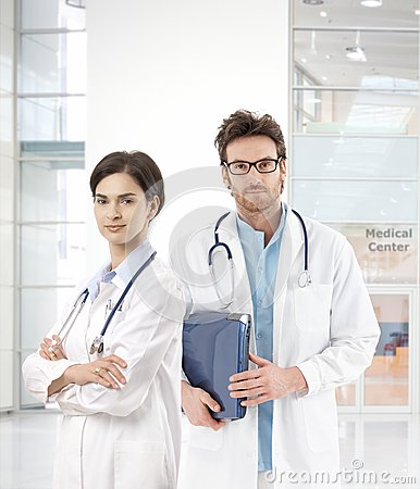 Young doctors in medical center