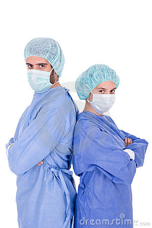 Young doctors posing