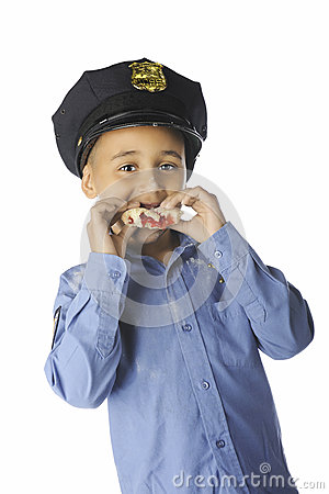 Free Young Donut-Cop Stock Image - 32361291