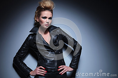 Young dramatic fashion woman with great hairstyle and make up