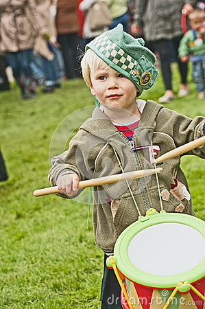 Young Drummer at Braemar Gathering Editorial Stock Image