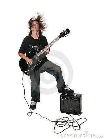 young electric guitar player royalty free stock image image 6649816. Black Bedroom Furniture Sets. Home Design Ideas