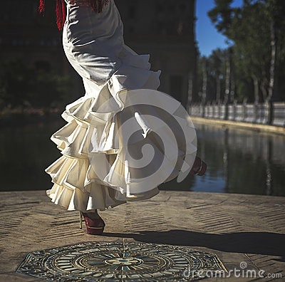 Free Young Elegance Flamenco Dancer Royalty Free Stock Image - 92020616