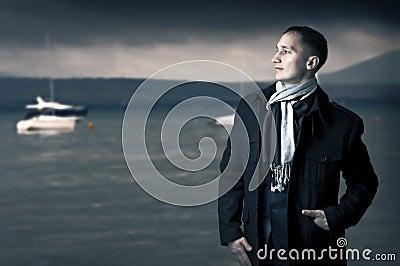 Young elegant businessman