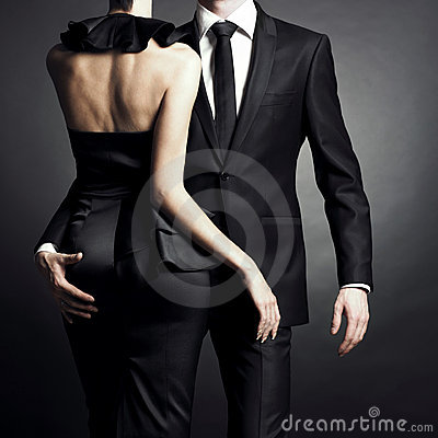 Free Young Elegant Couple Stock Image - 17069171