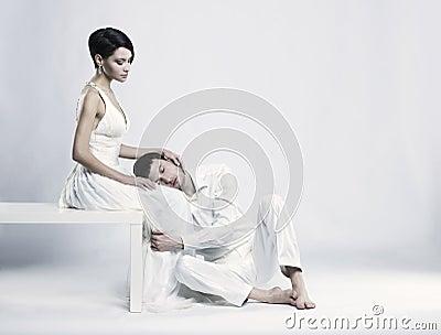Young elegant couple