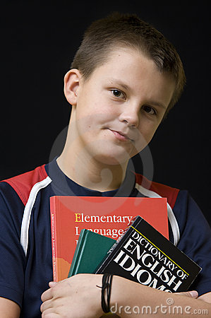 Young English student