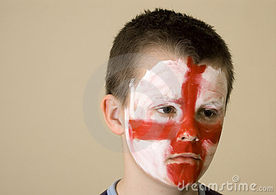 Young English team fan.