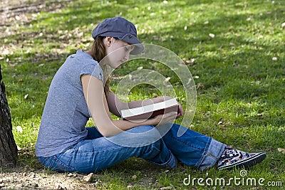 Young enjoying a book
