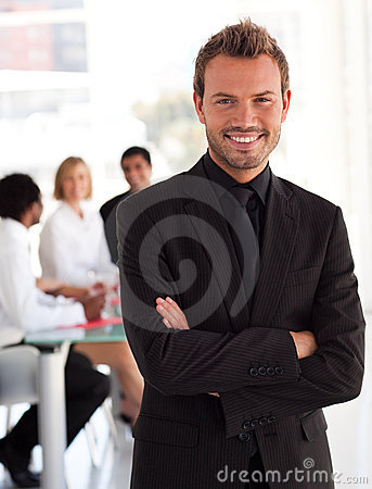 Young entrepreneur Smiling