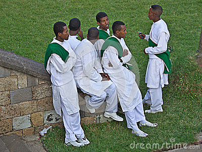 Young ethiopian men, Africa Editorial Stock Photo