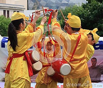 Young Falun Dafa Dance Editorial Photo