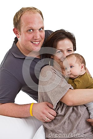 Young family with baby girl