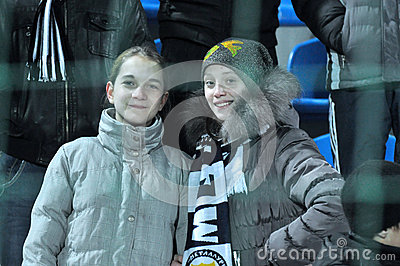 Young fans on the sector Editorial Photo