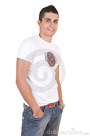Free Young Fashion Smiling Man Stock Photography - 3832302