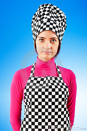 Young female cook