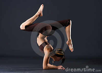 Young female gymnast