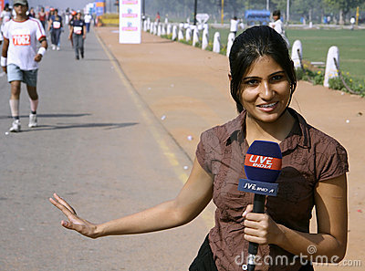 Young female journalist Editorial Image