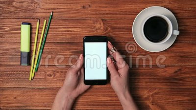 Young female making purchase in e-shop with phone stock video footage