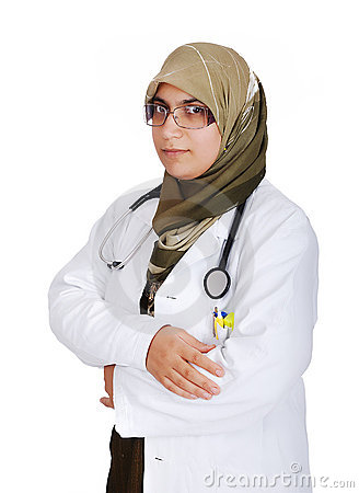 young female muslim doctor royalty free stock photos