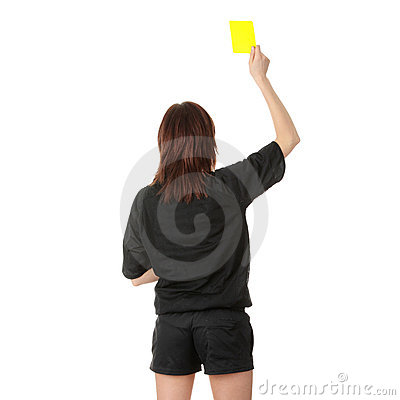 Young female referee