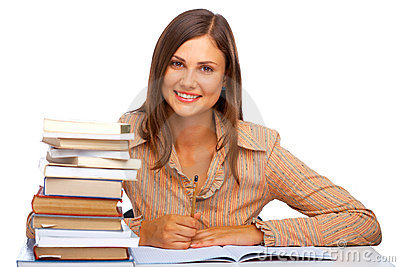 Young female student smiling