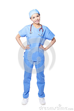 Young female surgeon doctor