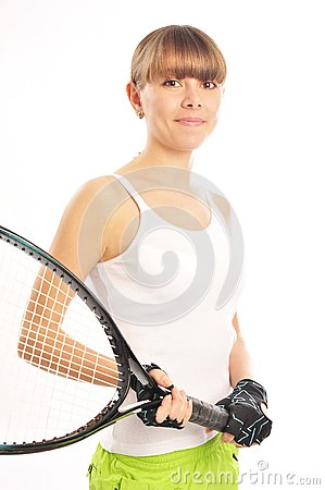 Young female tennis-player