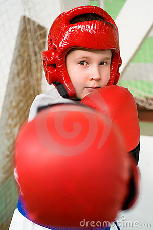Young fighter boy