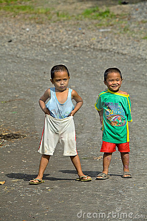 Young Filipino boys Editorial Stock Photo