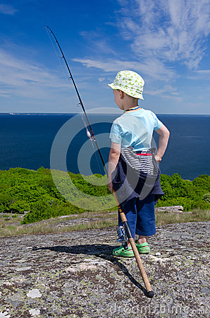 Young fisherman portrait
