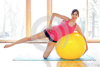 Young fit woman working out