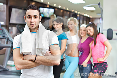 Young fitness instructor