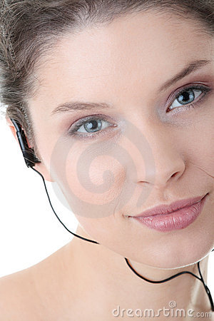 Young fitness woman with sport headphones