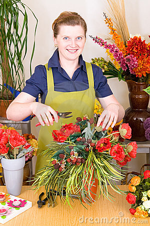 Free Young Florist Royalty Free Stock Photo - 5262885