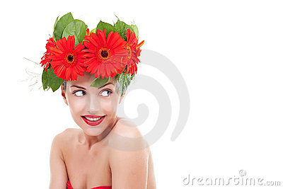 Young flower woman
