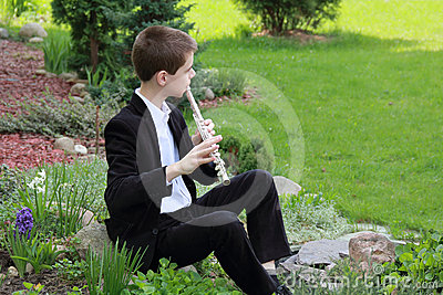 Young flutist