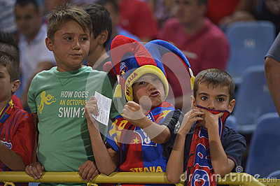 Young football fans Editorial Stock Image