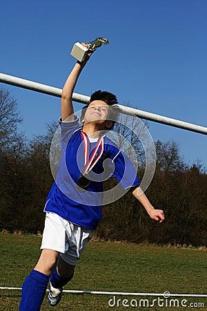 Young footballer has triumph