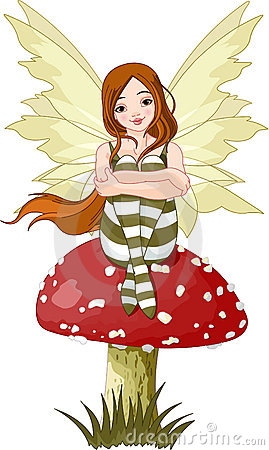 Young forest fairy