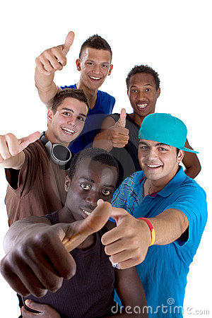 Young fresh group of teens