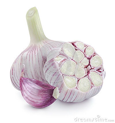 Free Young Garlic Heads And Cloves On White Background Squar Stock Photo - 41931750