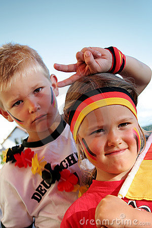 Young German soccer fans