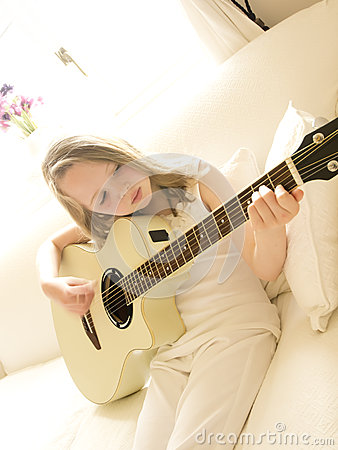 Young Girl on a Acoustic Guitar 3
