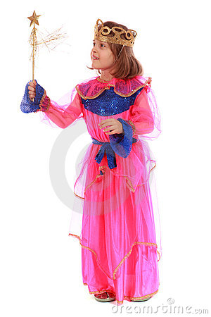 Young girl as magic fairy