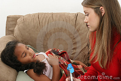 Young girl with asthma