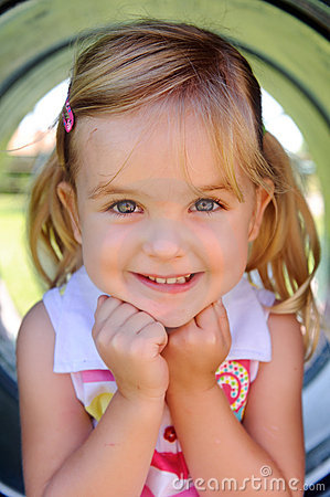 Free Young Girl At Playground Stock Image - 17217561