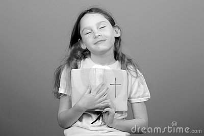 Young girl with Bible