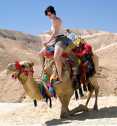 Free Young Girl Camel Dead Sea Israel Royalty Free Stock Photos - 17003568