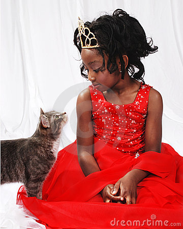 Young Girl and cat